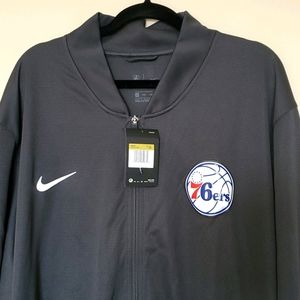 Nike 76ers dri fit  Full Zip up warm up jacket